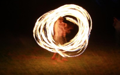 Fire Poi at Rower Fort